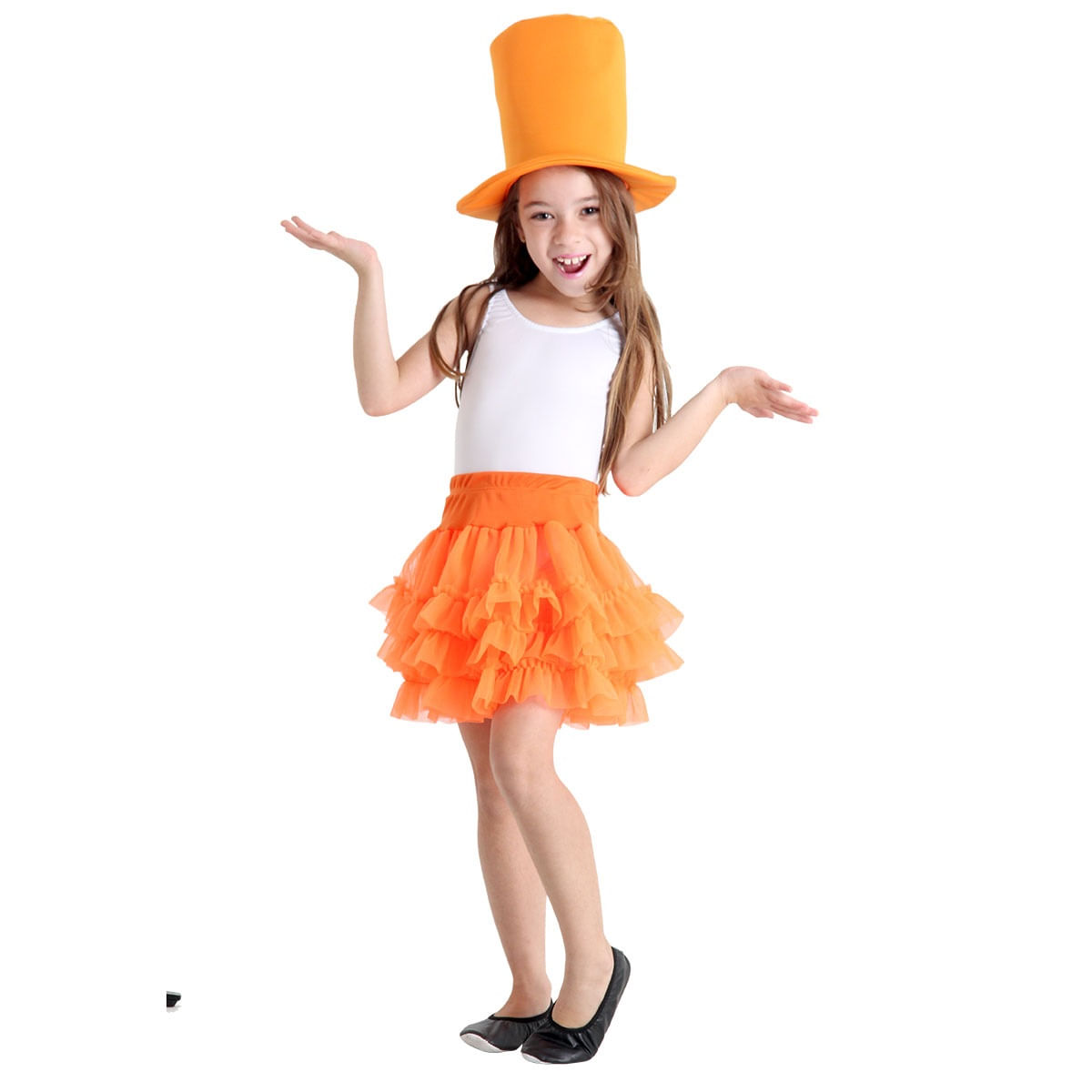 Fantasia Make Your Own - Saia Tutu Laranja Infantil M