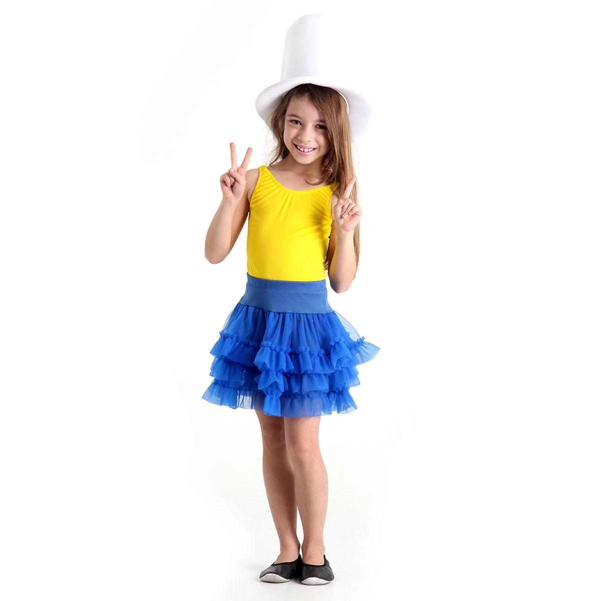 Fantasia Make Your Own - Saia Tutu Azul Infantil P