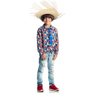 Imagem ilustrativa da fantasia caipira para meninos tipo Chico