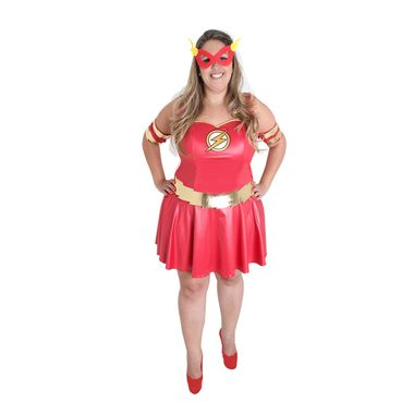 d135d5ed4 Fantasia The Flash Plus Size Feminina Adulto GG