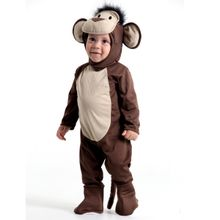 Foto de menino com fantasia de bebê macaco alta qualidade.