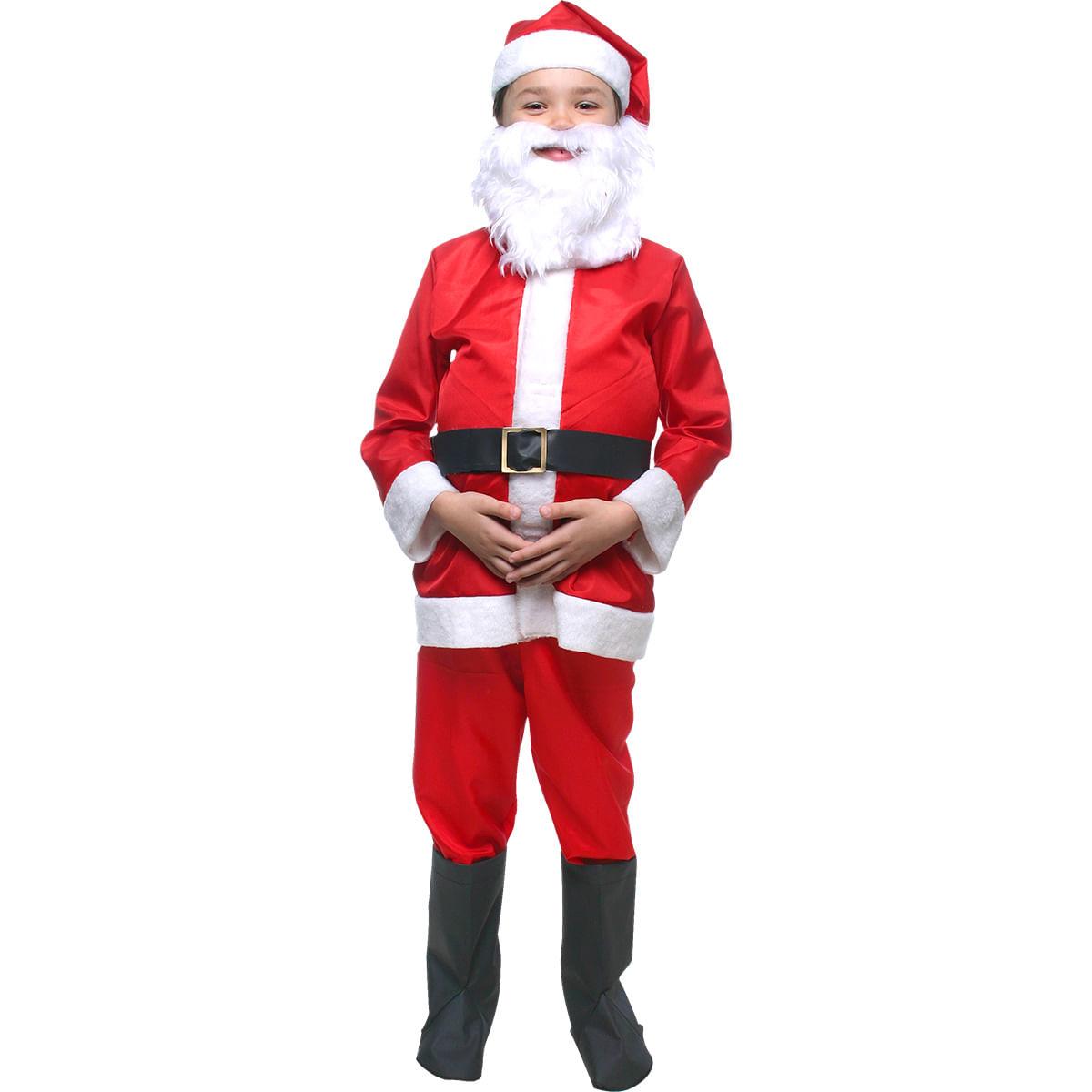 Fantasia Papai Noel Infantil G