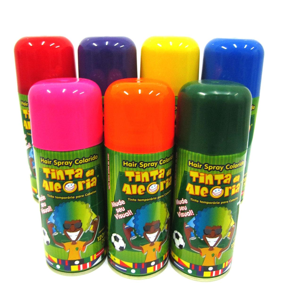 Tinta Temporária P / Cabelos Tinta Da Alegria 120 Ml Verde