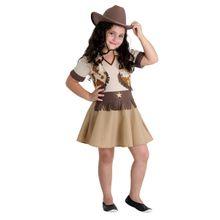 Foto de menina com linda fantasia infantil de Cowgirl