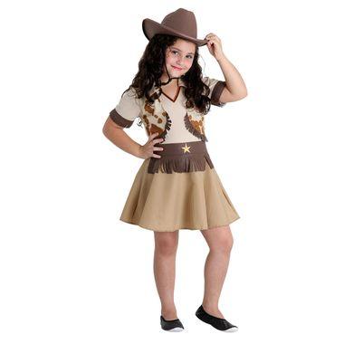 31212ae5a Fantasia Cowgirl Infantil - Festa Junina P