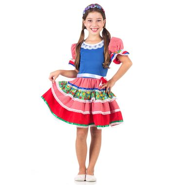 23c0c06326 Fantasia Caipira Flor Rosa Infantil - Festa Junina | Abrakadabra ...