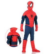 Foto de menino com linda fantasia infantil do Homem Aranha