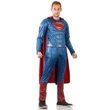Imagem da linda fantasia para adulto Super Homem com macacão