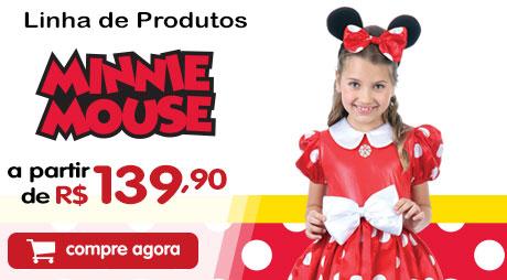 Fantasia Minnie Vermelha por R$ 139,90