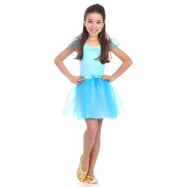 87f9e110cb7c2 Fantasia bailarina azul infantil - Roupa de bailarina para menina ...