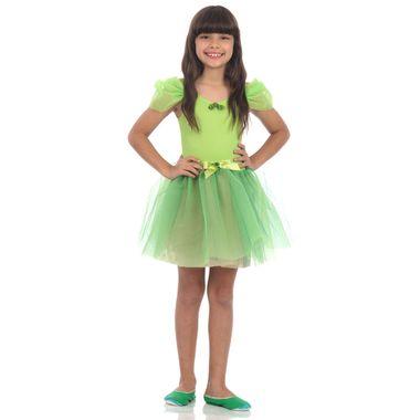 2da41bd18b Fantasia Bailarina Verde Limão Infantil P
