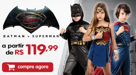 Fantasias Batman vs Superman a partir de 119,99