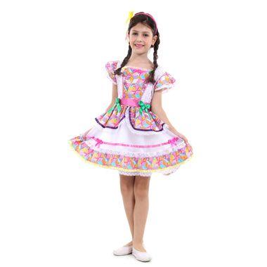 091a5d400f Fantasia Caipira Borboleta Infantil - Festa Junina P