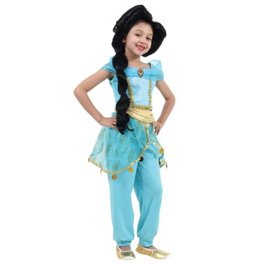 428f05f3b6 Fantasia Jasmine Infantil Luxo - Disney Princesas P