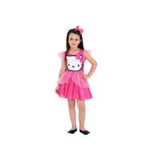 Foto de menina com fantasia infantil da conhecida personagem Hello Kitty