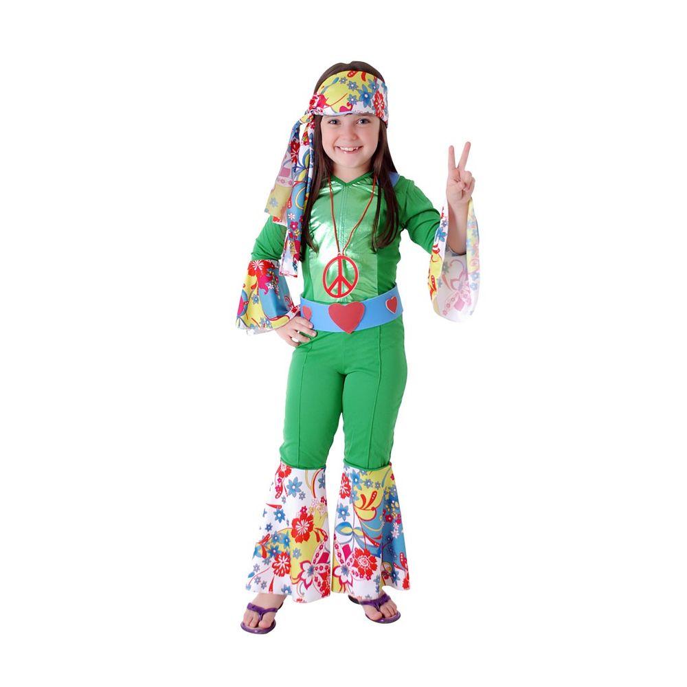 Fantasia Hippie Anos 70 - Verde   Abrakadabra - Abrakadabra d0f89259c2