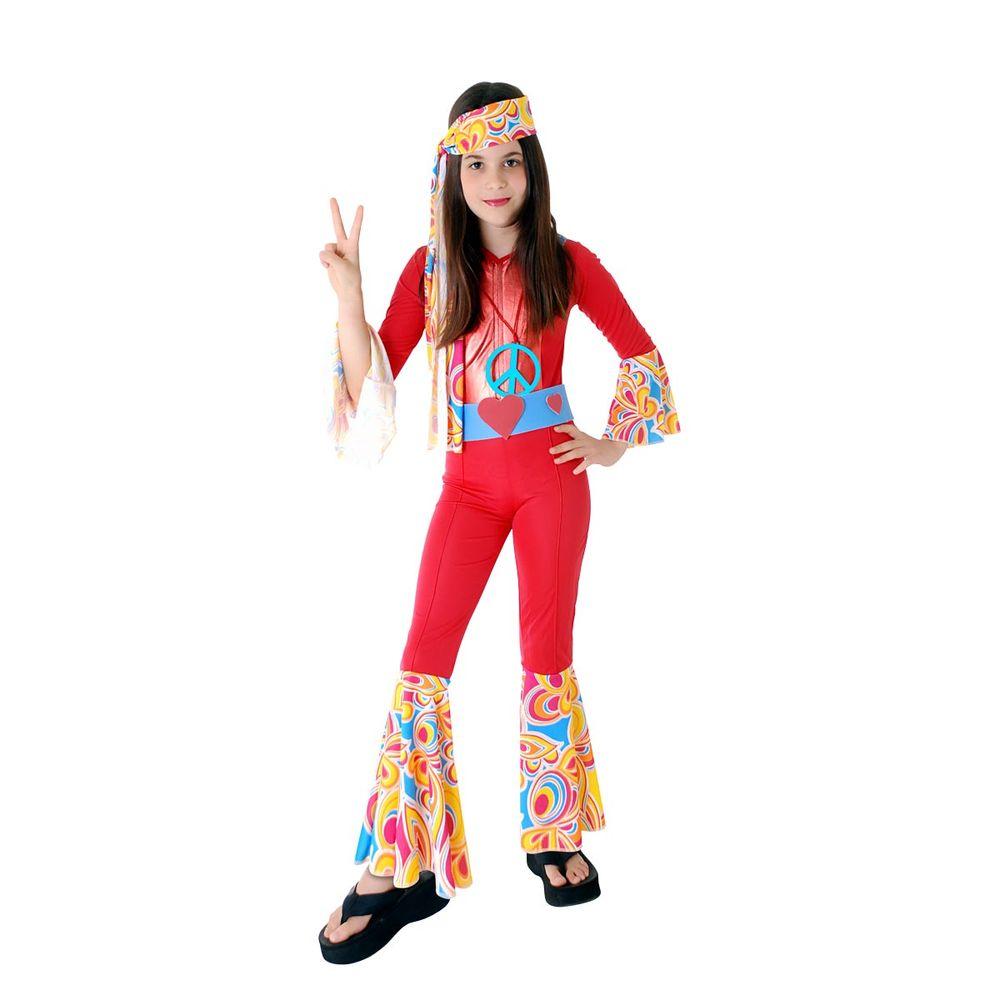 Fantasia Hippie Anos 70 - Vermelho   Abrakadabra - Abrakadabra 3db98d2312