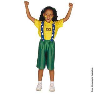 Fantasia Brasileirinha Infantil Curta - Copa do Mundo