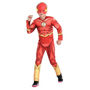 Foto de garoto com fantasia infantil Flash