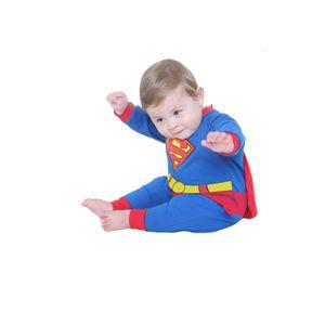 Fantasia Macacão Super Homem Bebê