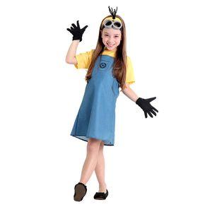 Foto de menina com fantasia Minions feminina infantil