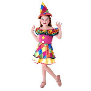 Foto da fantasia palhaça para meninas em festas e carnaval