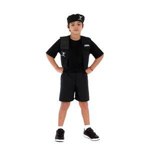 Fantasia Policial Tropa Curto Infantil
