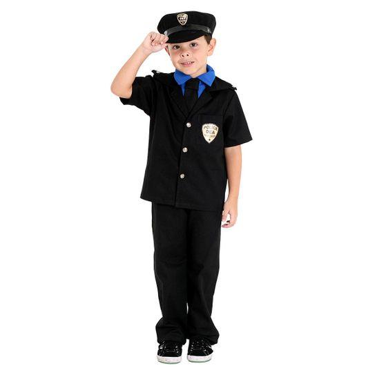 Foto da fantasia policial para meninos em festas e eventos