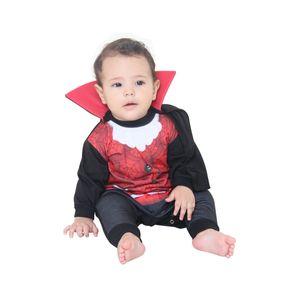 Fantasia Macacão Bebê Conde Dracula