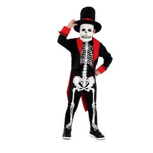 Foto da fantasia Halloween infantil esqueleto de alta qualidade