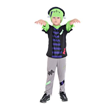 Fotografia de menino usando fantasia infantil do Frankstein