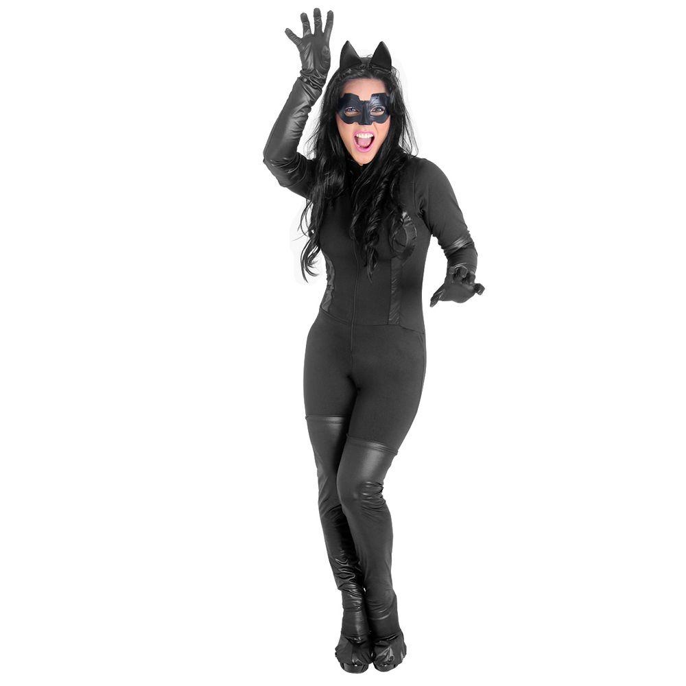 7c408c092 Fantasia Mulher Gato Adulto Luxo