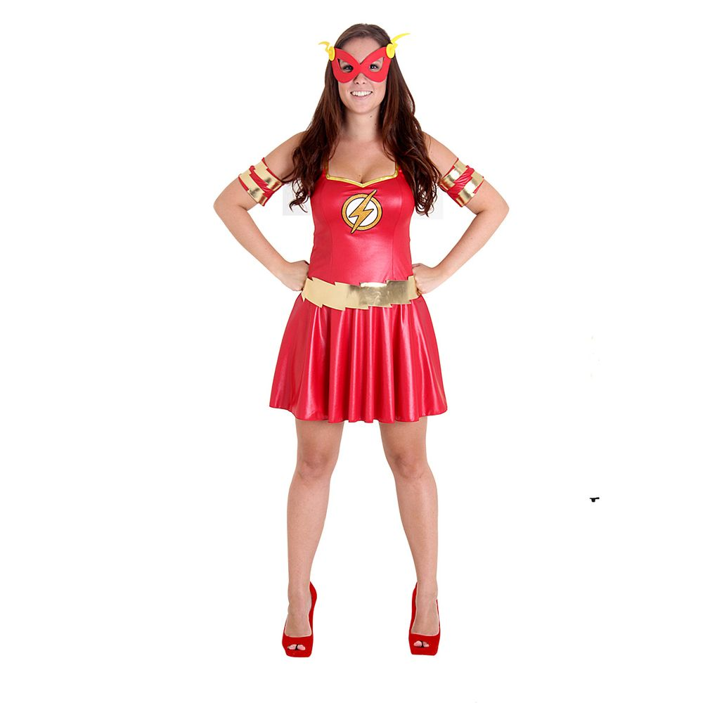 edea19290 Fantasia The Flash Feminina - Teen - Clube de Herois