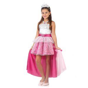 Foto de menina com a fantasia infantil Barbie rock'n Royals estilo luxo