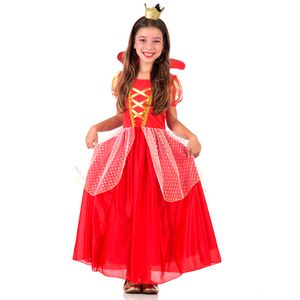 Foto de menina com fantasia infantil de rainha para festas