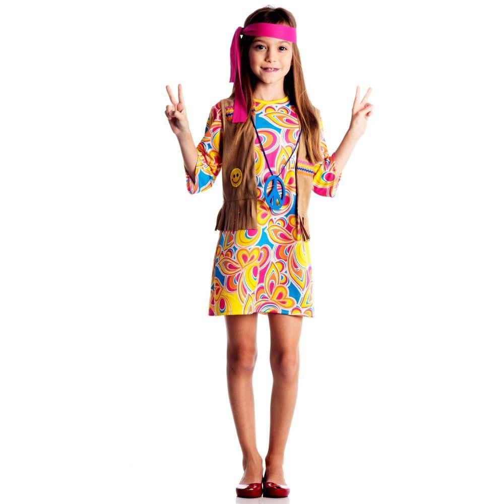 a09debf674 Fantasia Infantil Hippie Feminino