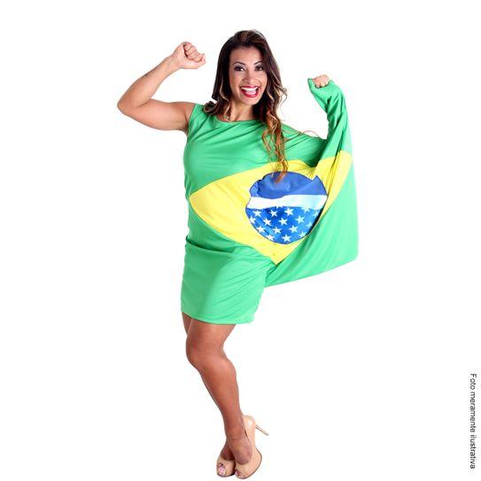 42637e6b45f7 Fantasia Vestido Bandeira Brasil | Abrakadabra - Abrakadabra