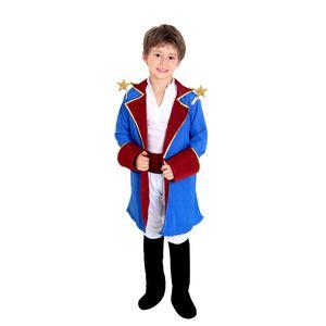 Foto de menino com linda fantasia infantil do Pequeno Príncipe
