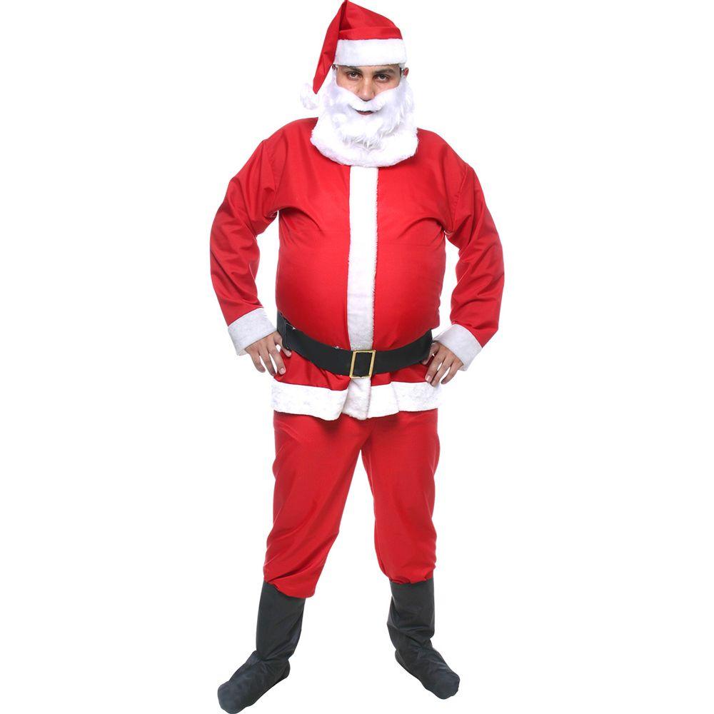 91d9f68f5 Fantasia do Papai Noel Adulto grande tamanho GG - Abrakadabra