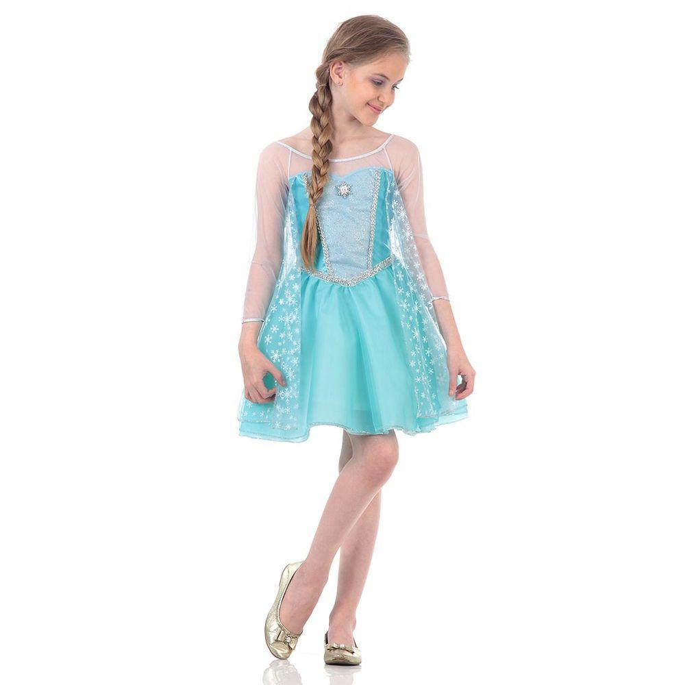 Fantasia Frozen Elsa Verão Abrakadabra Abrakadabra