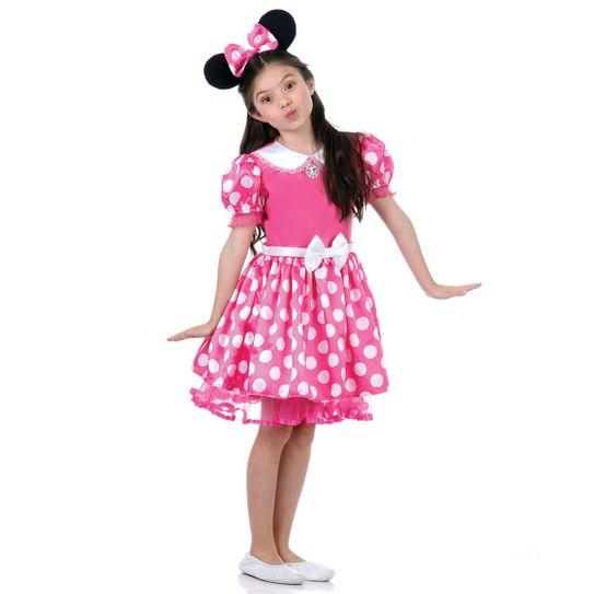 Imagem da fantasia infantil Minnie rosa na loja Abrakadabra