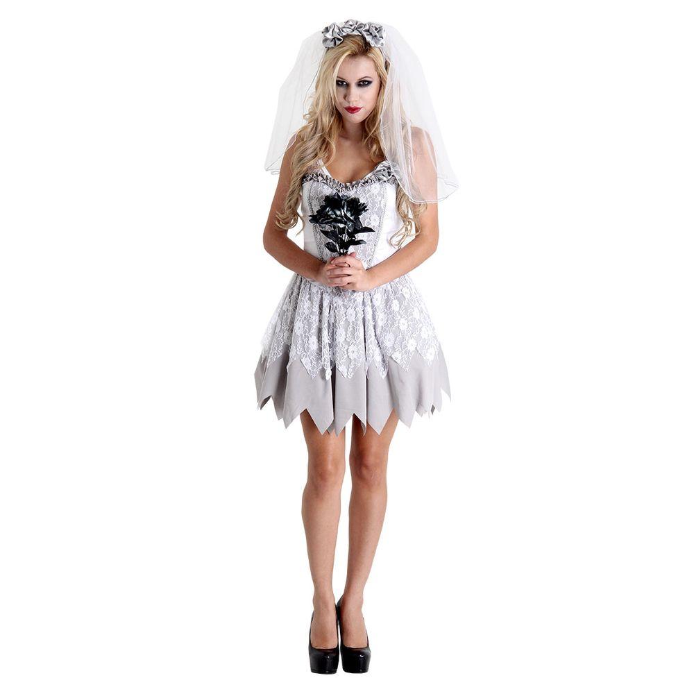 Fantasia de Noiva Cadáver para Halloween - Abrakadabra fb08aa6142