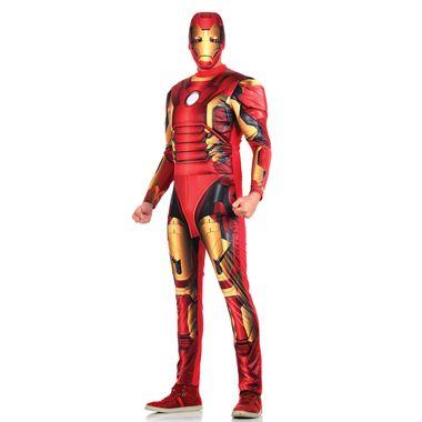 Foto de homem com fantasia para adulto Homem de Ferro com macacão