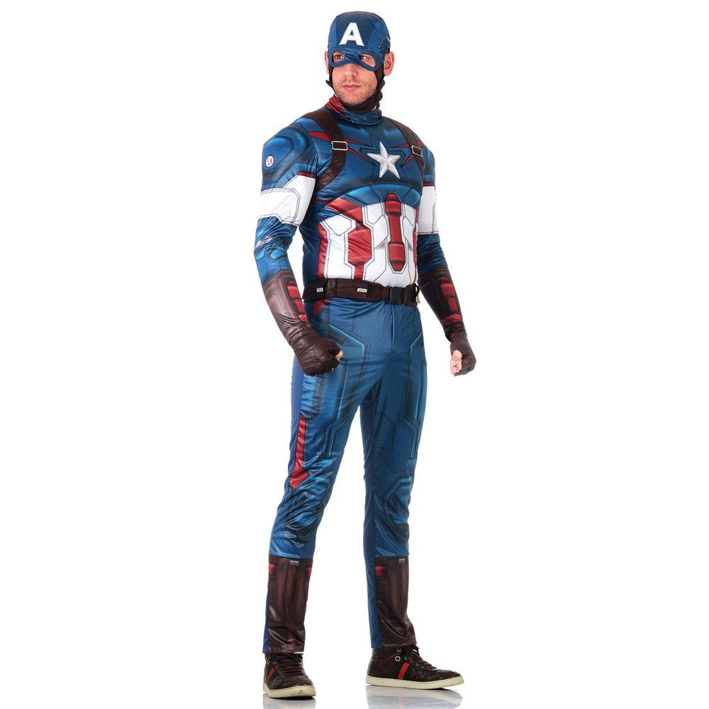 a4f9c7df1c917 Fantasia Capitão América Adulto - Vingadores
