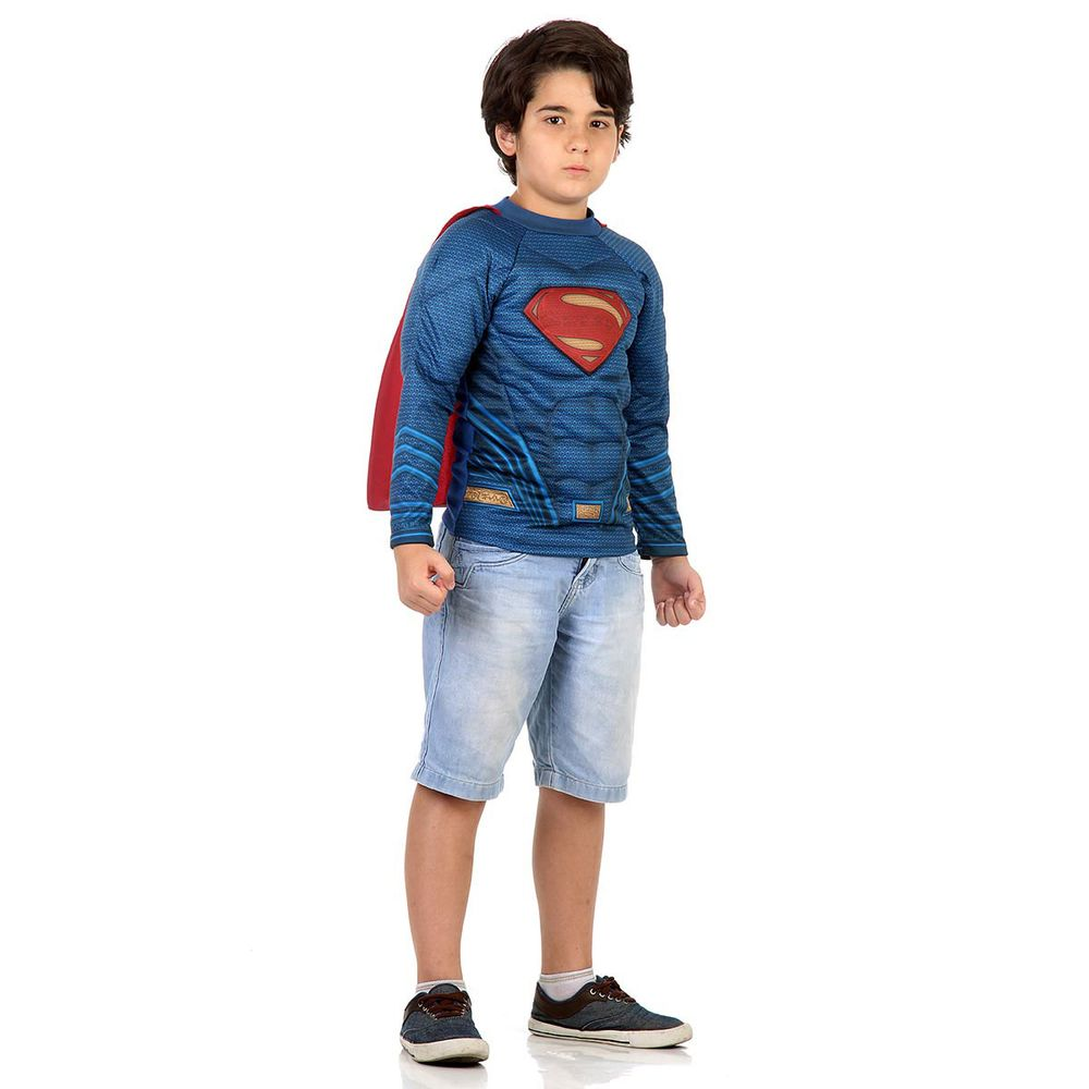 Kit Infantil Camiseta Batman x Superman - Super Homem  4bf88a24b37