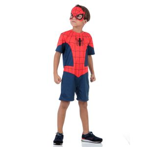 Fantasia Homem Aranha Infantil Curto