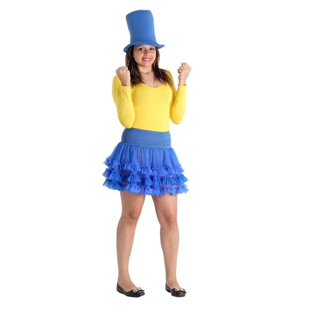 79653896b Fantasia Make your Own - Saia Tutu Azul Adulto U