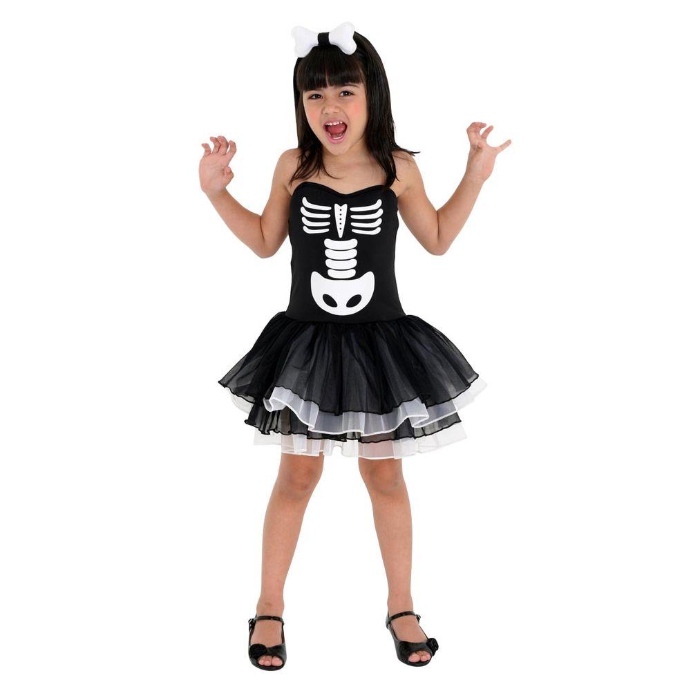 897711a6fd5a8 Fantasia Bruxa Esqueleto