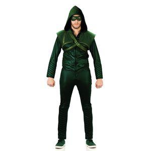 Foto da fantasia para adulto Arqueiro Verde ou conhecido como Arrow