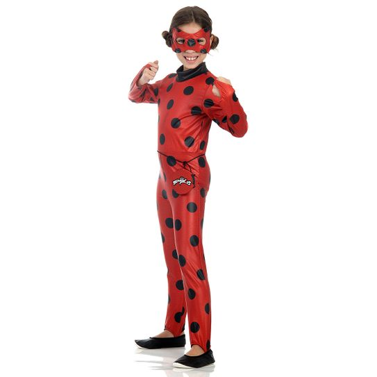 Linda fantasia infantil personagem Lady Bug